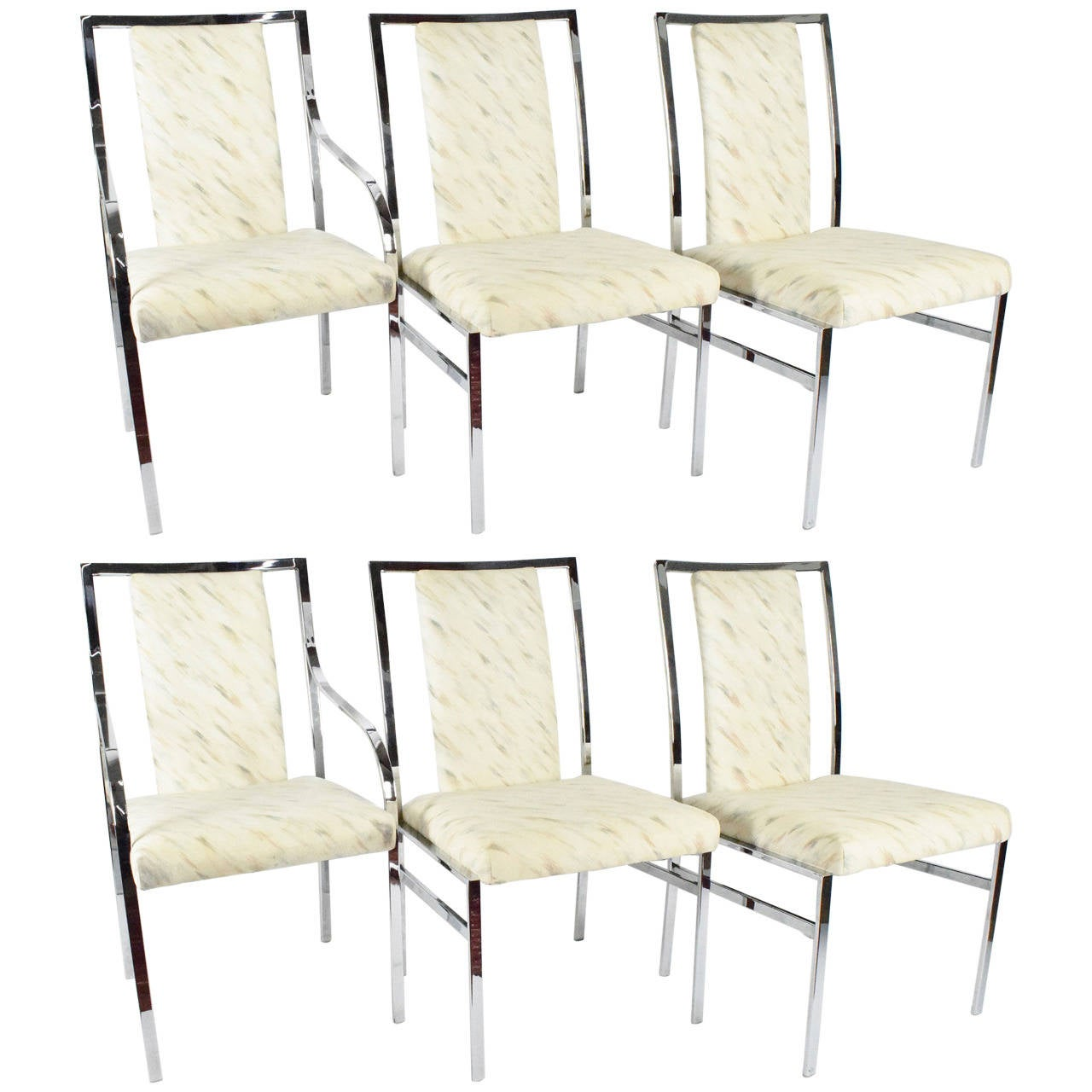 milo baughman dining chairs beach san diego chrome by dillingham at 1stdibs