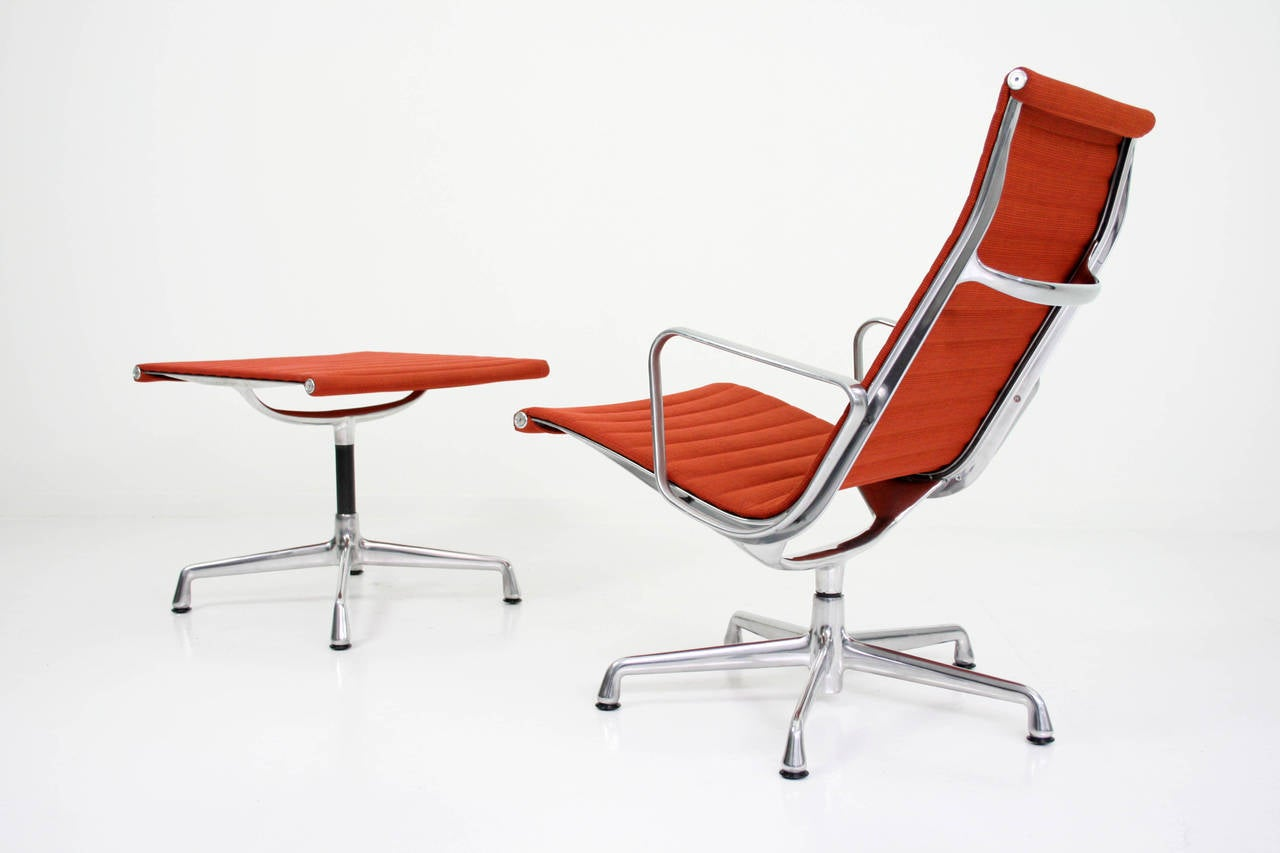 eames aluminum group management chair paisley accent charles lounge and ottoman at