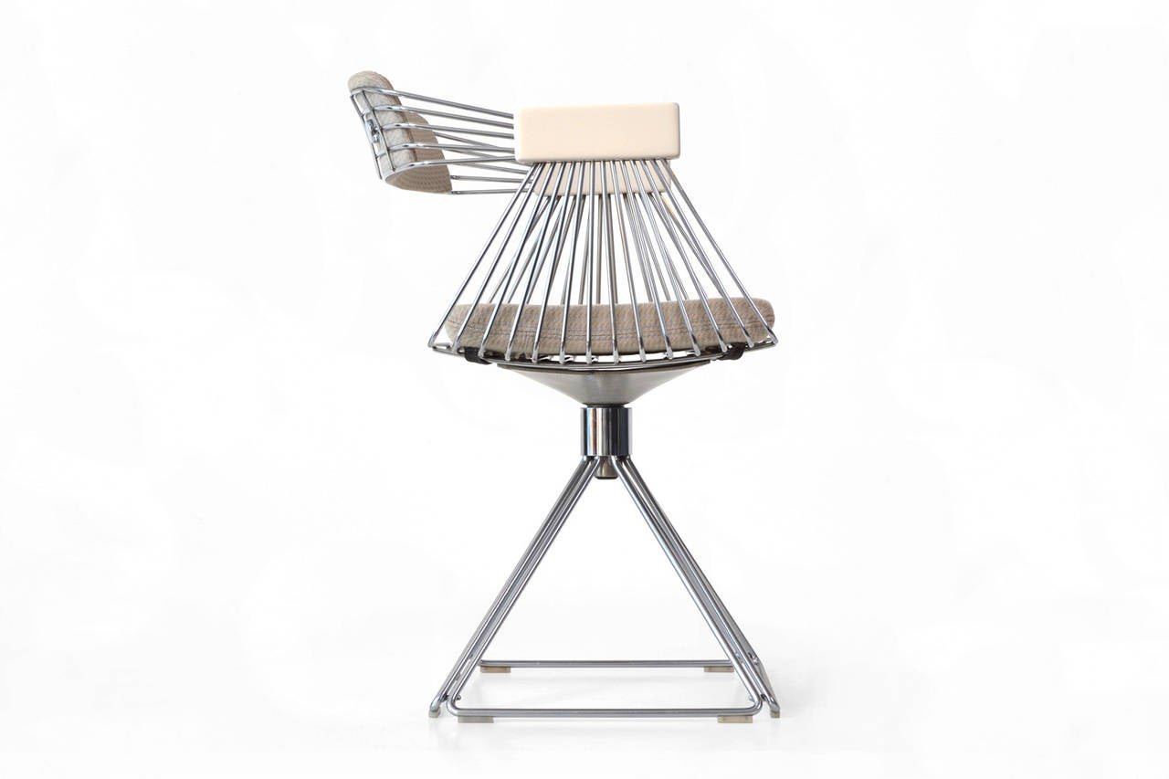 Set Of Four Dining Chairs By Rudi Verelst At 1stdibs