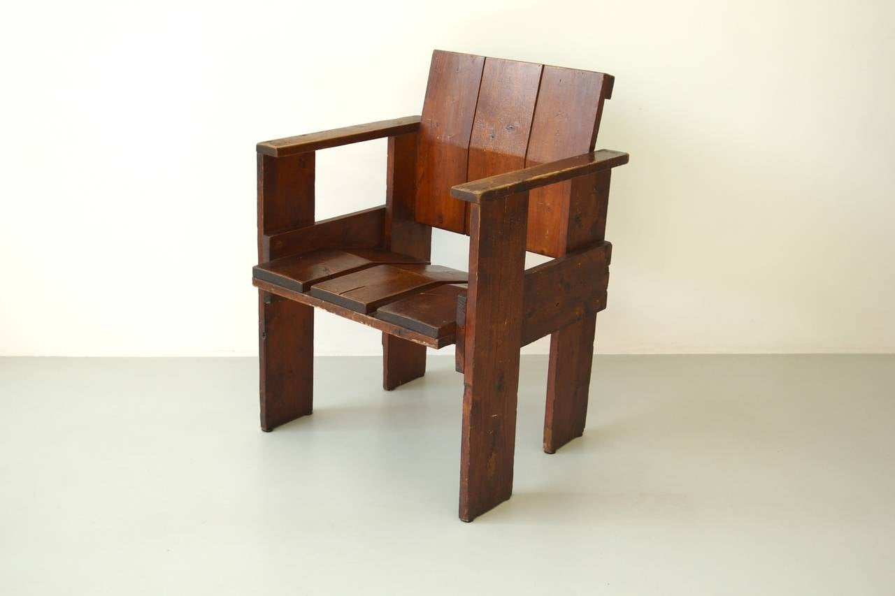 gerrit rietveld crate chair ivory spandex covers for sale albatros by at 1stdibs