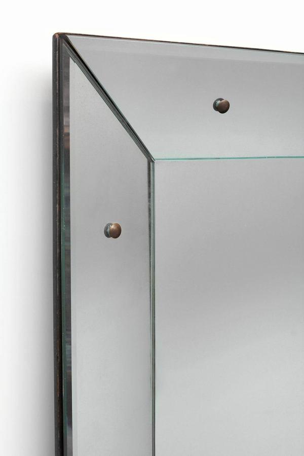 Large Glass Framed Mirror