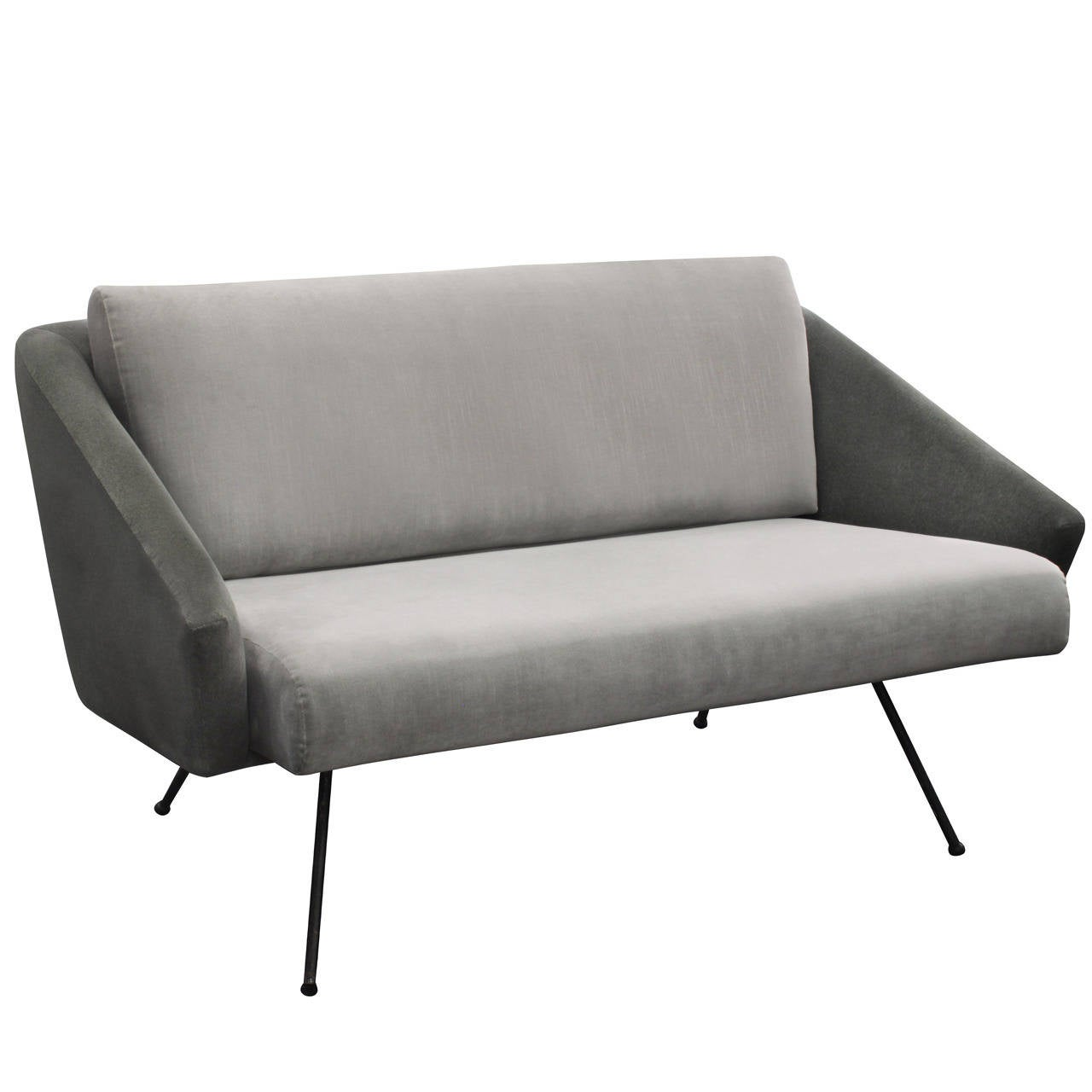 sofa with legs or without big squishy leather sofas small sculptural splayed at 1stdibs