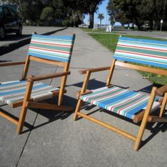 Antique Beach Chair Covers For Recliner Sofas Dynamite Pair Of Vintage Chairs At 1stdibs