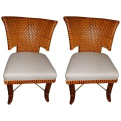 Woven Dining Chairs Roman Chair Back Extension Alternative Pair Of Leather Curved Room Or Side
