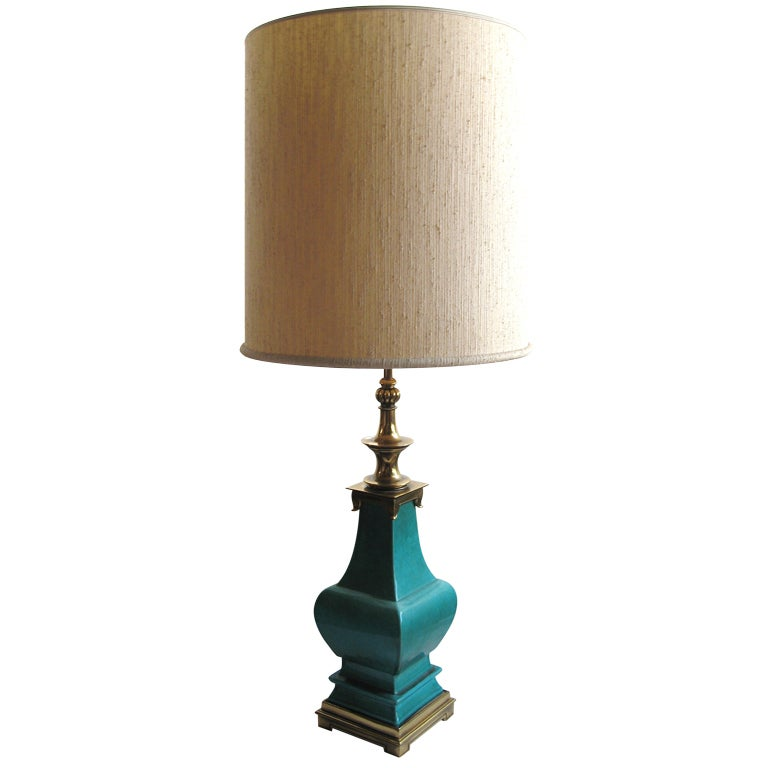Large Asian Form Stiffel Table Lamp at 1stdibs