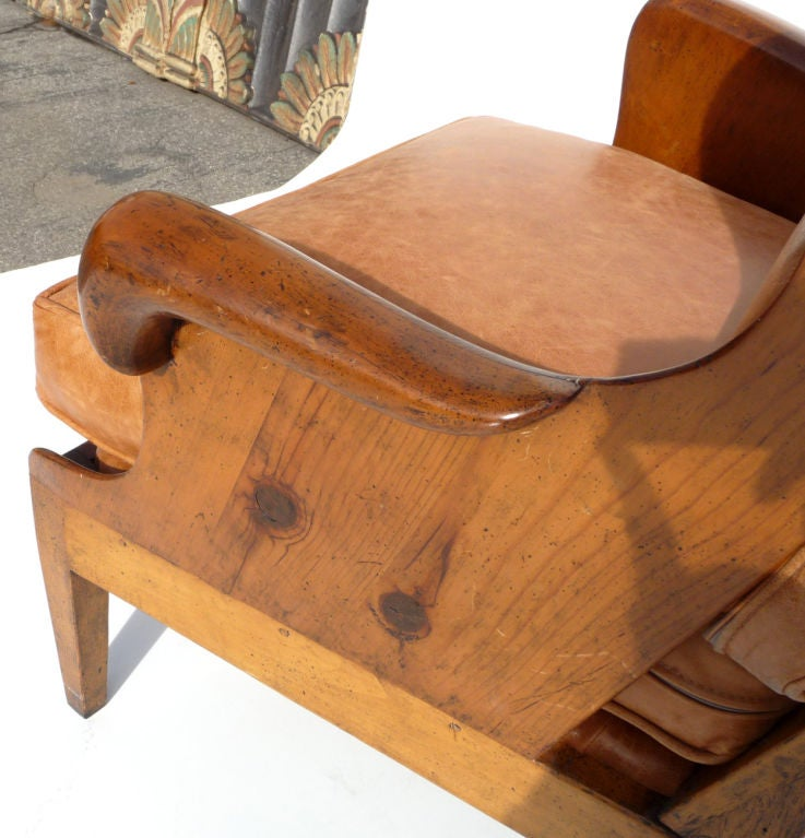 Wing Back Armchair by Actor George Montgomery at 1stdibs
