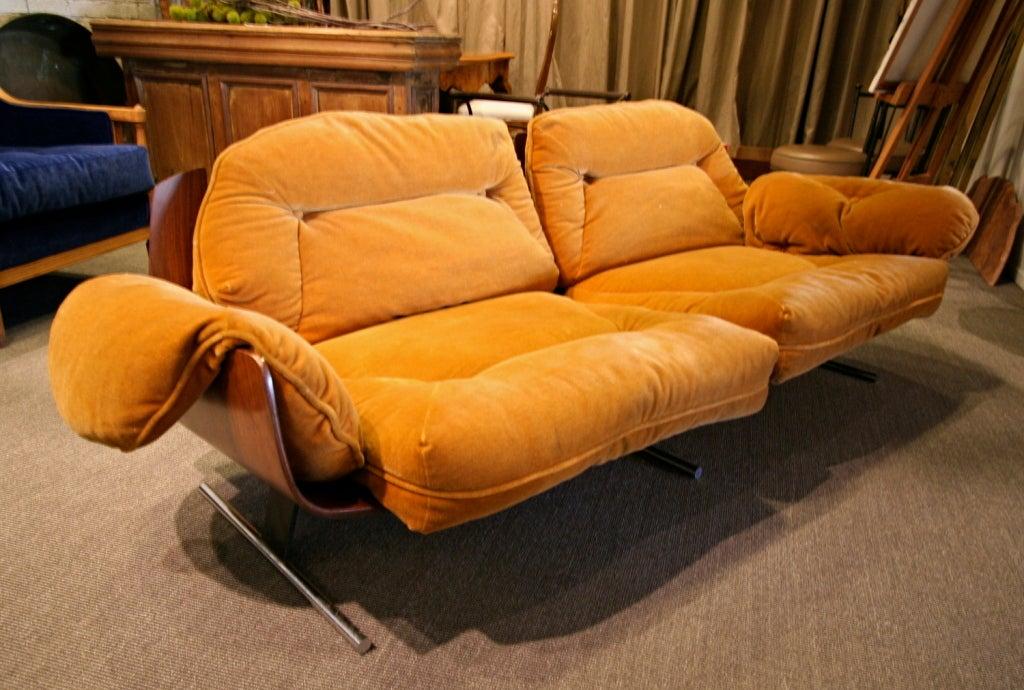 Very Rare 70's Jacaranda Sofa By Jorge Zalszupin At 1stdibs