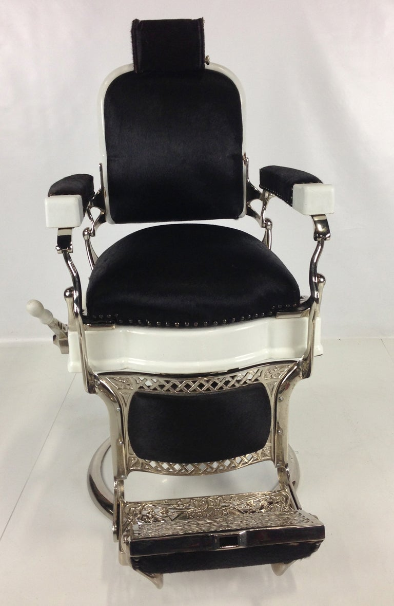 Extraordinary Barbers Chair by Ernest Koken at 1stdibs