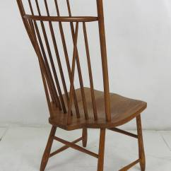 Windsor Style Chairs Burgundy Office Chair Leather Set Of Six High Back Dining At 1stdibs