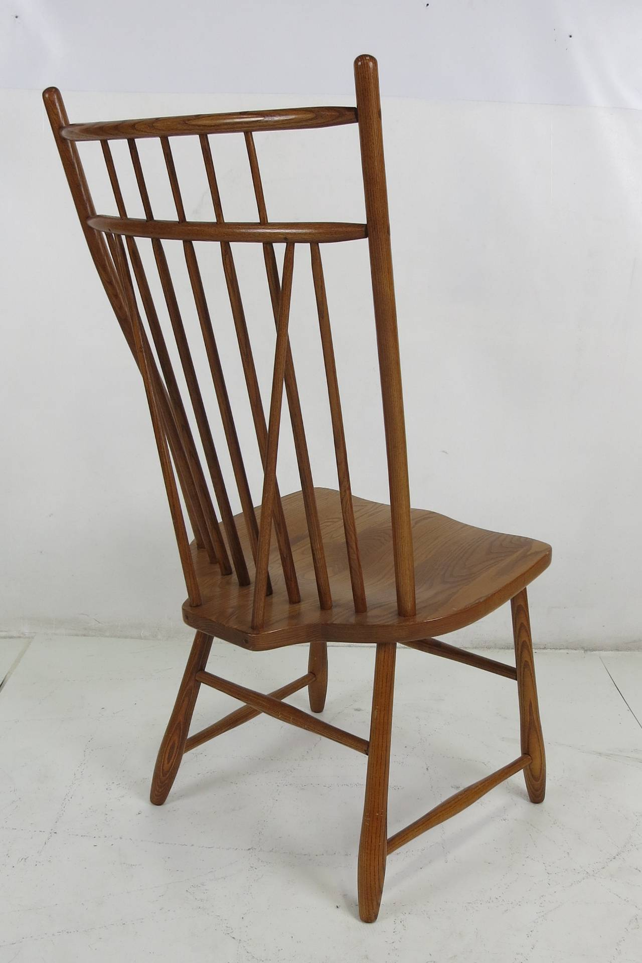 Windsor Style Chairs Set Of Six High Back Windsor Style Dining Chairs At 1stdibs