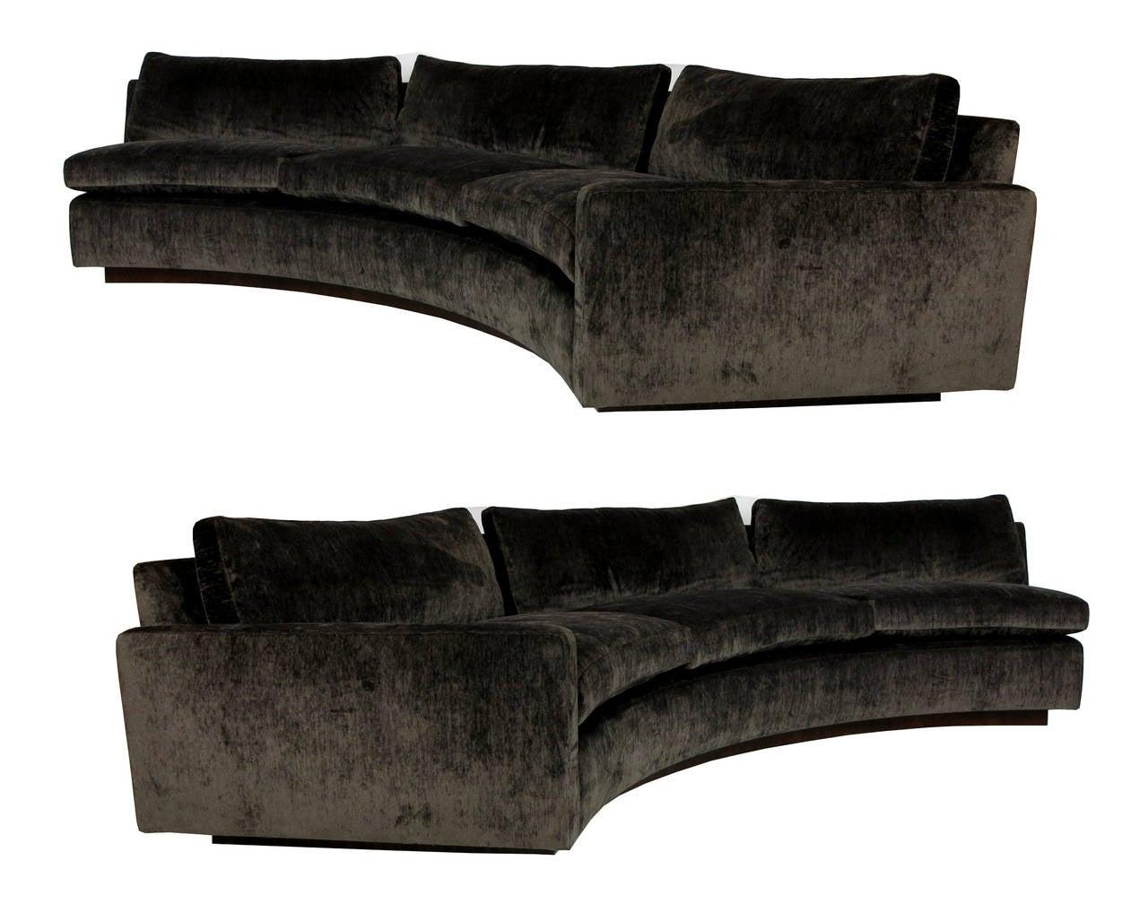 half circle sofas tiendas de fundas sofa en leon large sectional by milo baughman for