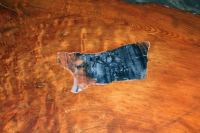 Beautiful Redwood Coffee Table With Inlaid Petrified Wood ...