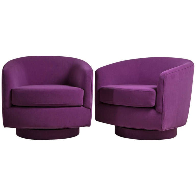swivel tub chairs heavy duty dining room a pair of milo baughman designed rocking at 1stdibs
