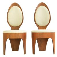 Henry P. Glass Spoon Chairs at 1stdibs