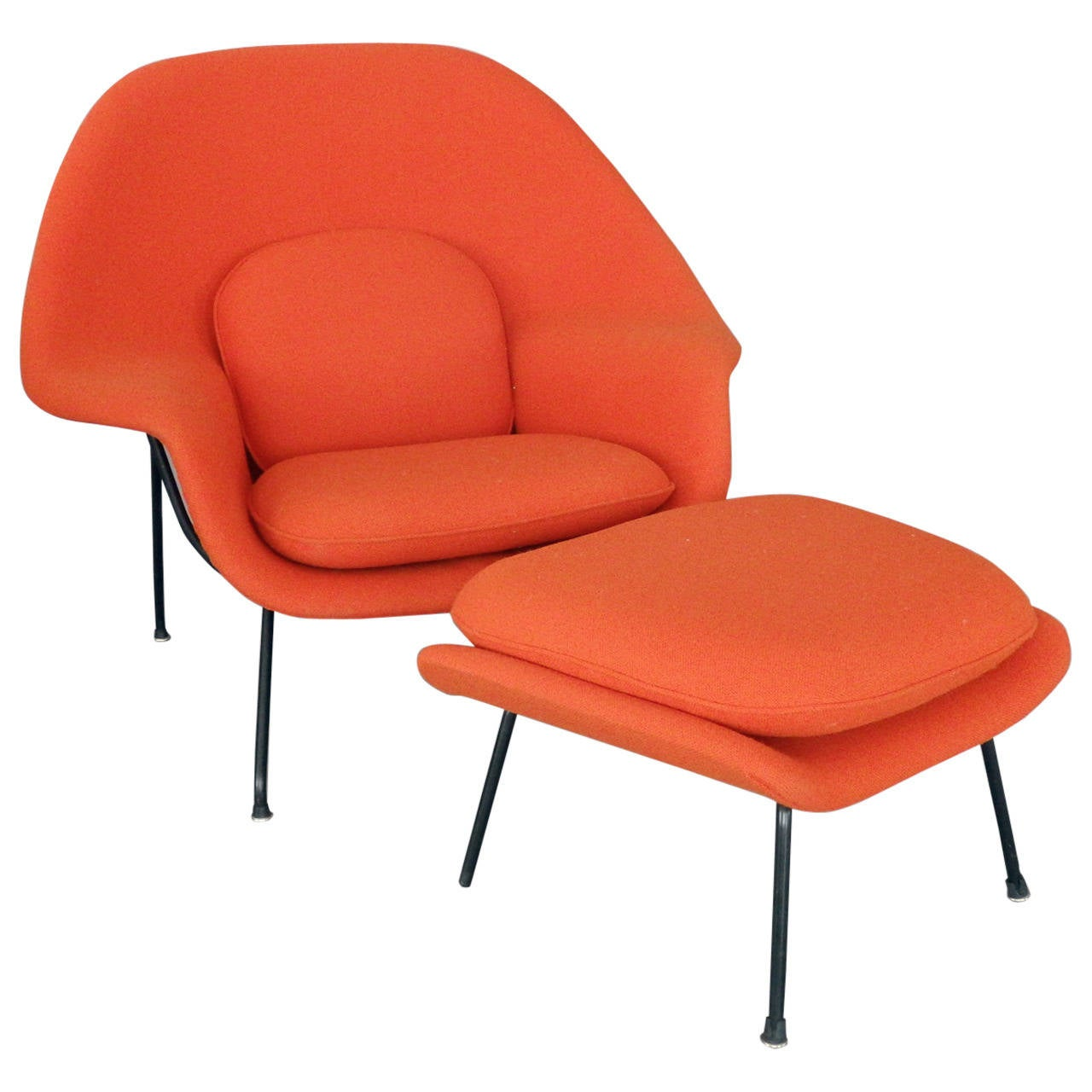 Knoll Egg Chair Saarinen For Knoll Womb Chair With Ottoman At 1stdibs