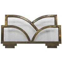 Art Deco Brass Fireplace Screen at 1stdibs