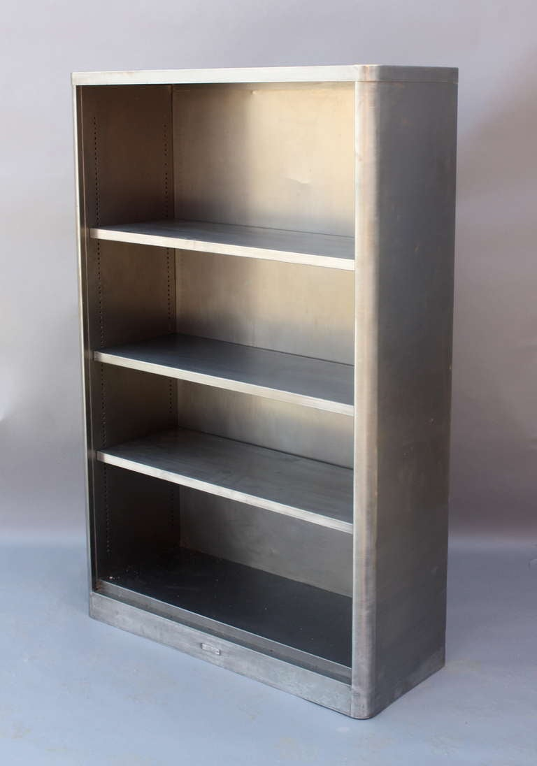 Stainless Steel Bookcase At 1stdibs