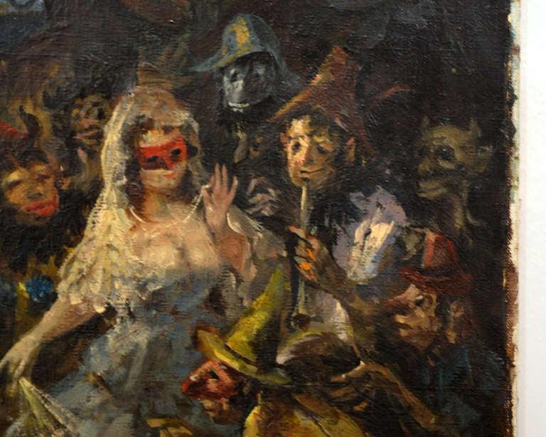 Masquerade Ball Painting at 1stdibs