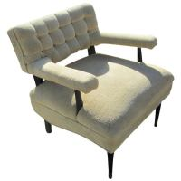 Mid Century Modern Tufted Lounge Chair at 1stdibs