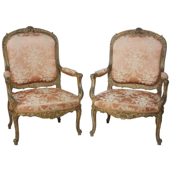 Louis XV Style Pair of Chairs at 1stdibs