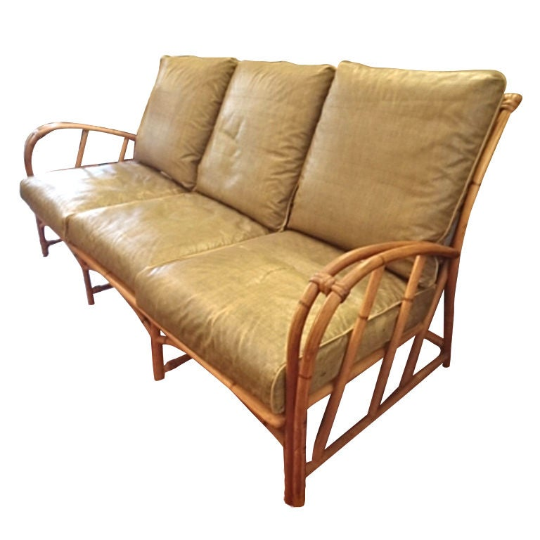 art van sofas fabric reclining sofa with drop down table vintage heywood-wakefield rattan set at 1stdibs