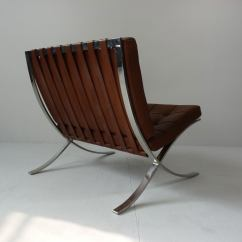 Mies Van Der Rohe Barcelona Chair Diy Wood Makeover For Knoll At 1stdibs