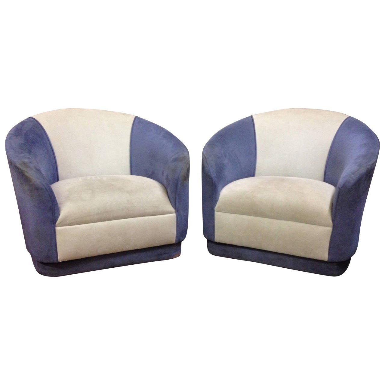 Barrel Swivel Chair Pair Of Swivel Barrel Chairs At 1stdibs