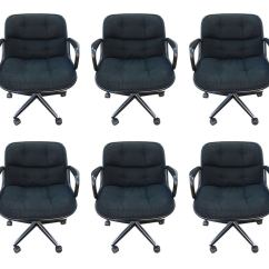 Knoll Pollock Chair Princess Anne Set Of 6 Executive Chairs By Charles For