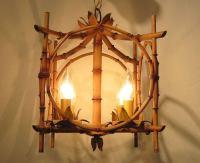 Bamboo Hanging Light Fixture at 1stdibs