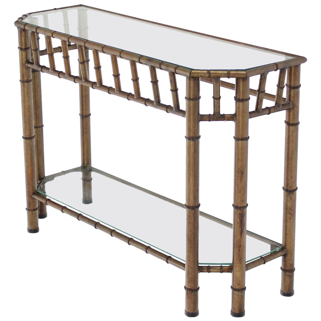 legare bamboo sofa table jedd fabric 6 pc power reclining sectional metal faux console at 1stdibs