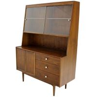 Kipp Stewart Mid Century Danish Modern Walnut China