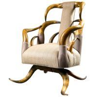 American Victorian Period Long Horn Chair, C. 1880