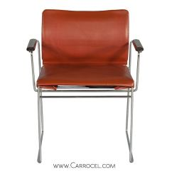 Mid Century Modern Accent Chair Orange With Cup Holder Chairs At 1stdibs