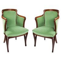 Louis Majorelle Pair of French Art Nouveau Armchairs at ...