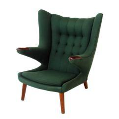 Papa Bear Chair Folding Size And Ottoman By Hans Wegner At 1stdibs