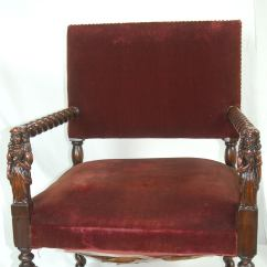 Barley Twist Chair Folding Camping Chairs Pair Of Jacobean Arm With English