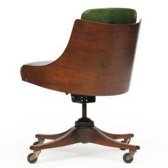 Barrel Back Chair High Wicker Cushions Desk By Edward Wormley For Dunbar At 1stdibs