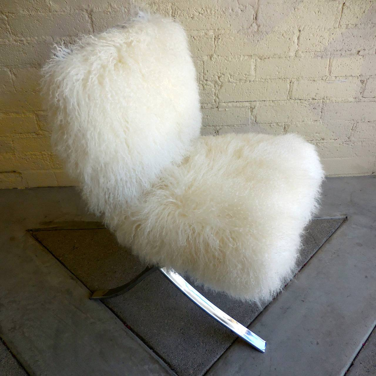 white fluffy desk chair big tall office chairs playfully chrome plated upholstered in