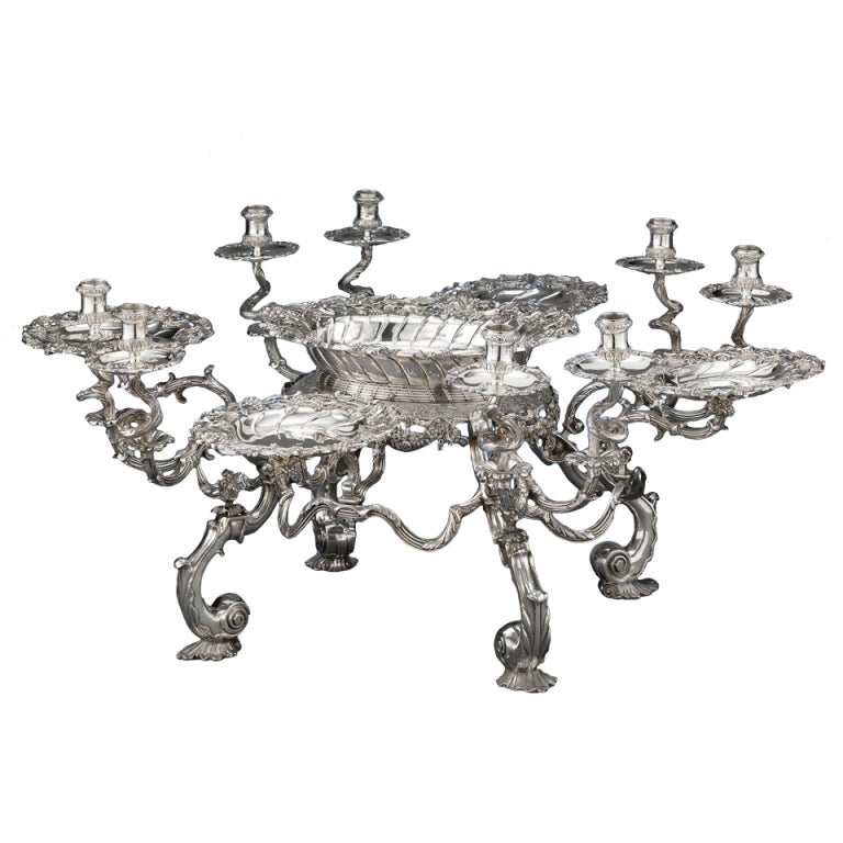 Important George II Silver Epergne at 1stdibs
