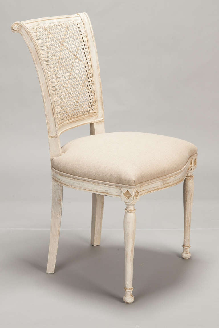 french cane back dining chairs medicine ball chair set of 12 antique white at 1stdibs
