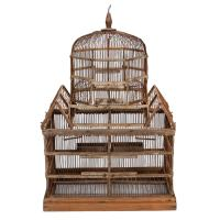 19th Century Wooden Bird Cage at 1stdibs