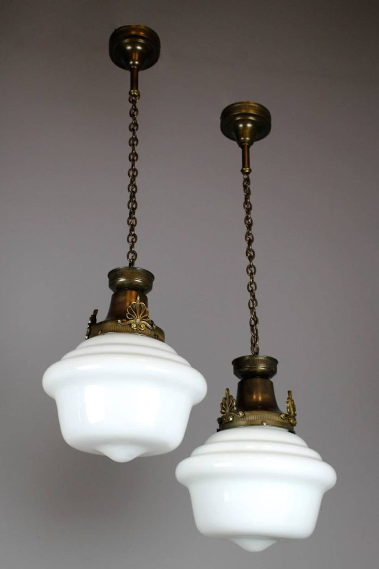 Single Pendant Schoolhouse Fixture At 1stdibs