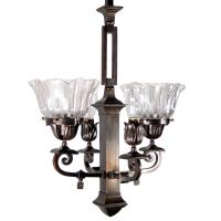 Mission Style Gas Electric Fixture at 1stdibs