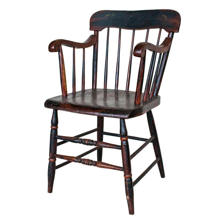 19th Century Painted Windsor Chair