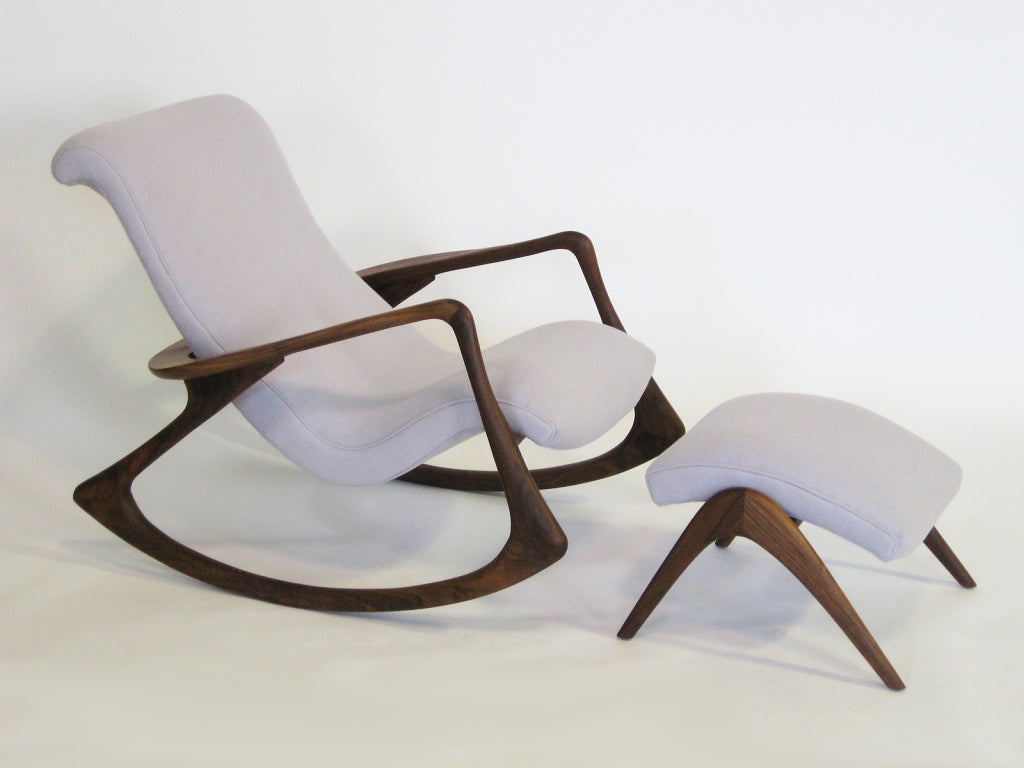 vladimir kagan rocking chair herman miller side contour and ottoman by image 2