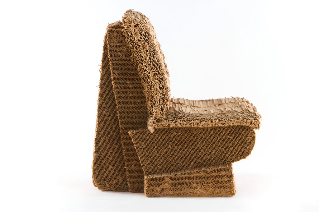 frank gehry cardboard chair little girl o sitting beaver at 1stdibs