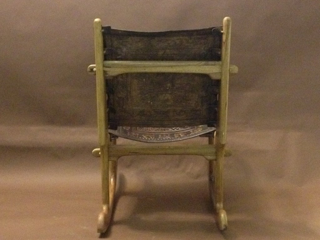 rocking chair leather and wood wooden lounge plans angel pazmine ecuatorian image 4