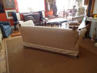Vintage Knole Style Sofa In Neutral Linen at 1stdibs