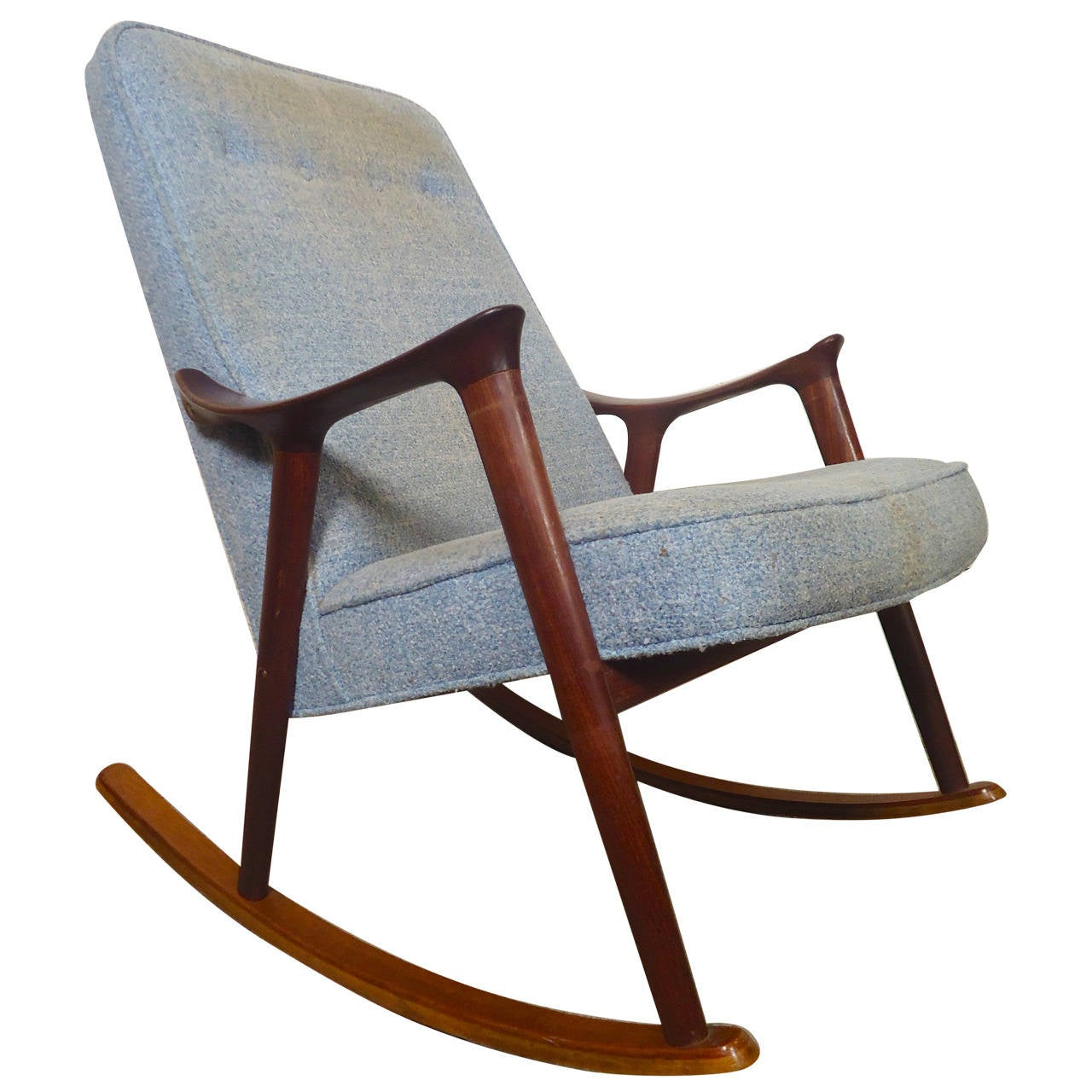 mid century rocker chair rocking with ottoman india modern sculpted by ingmar relling at