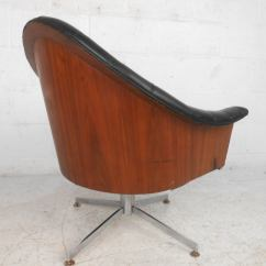 Mid Century Modern Desk Chair Ivory Spandex Covers For Sale Adrian Pearsall Style Tufted Swivel